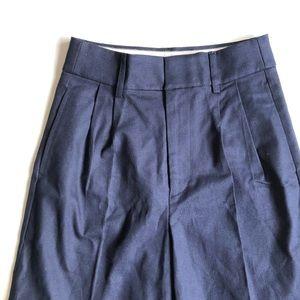 J. Crew Pants & Jumpsuits - J. Crew Navy Wide Leg Cropped Pant Stretch Twill 4